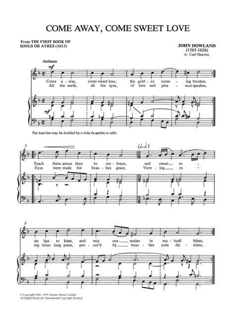 Come Away  music sheet