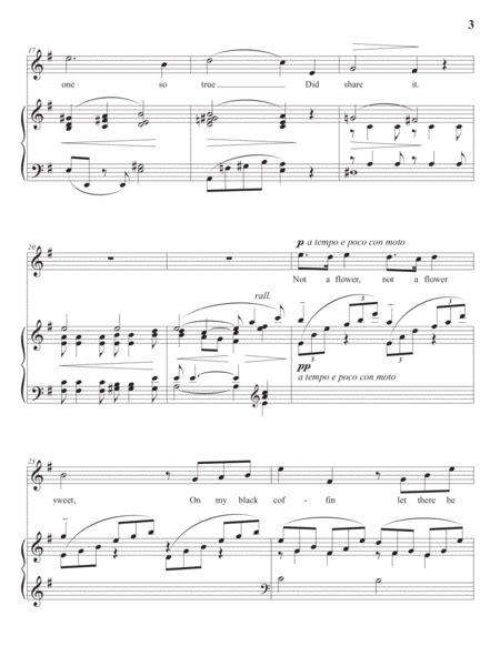 Come Away Death Op 6 No 1 E Minor  music sheet