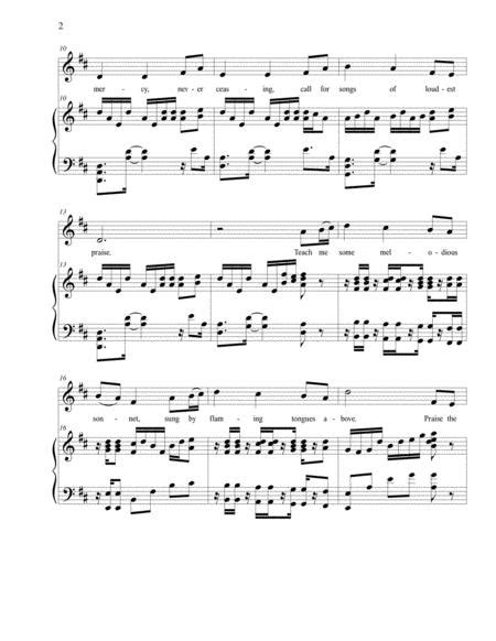 Come Thou Fount Of Every Blessing Nettleton Low Voice Arr Brenda Portman  music sheet