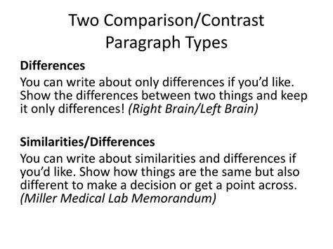 COMPARE AND CONTRAST ESSAY      You will be writing a compare and     Brefash