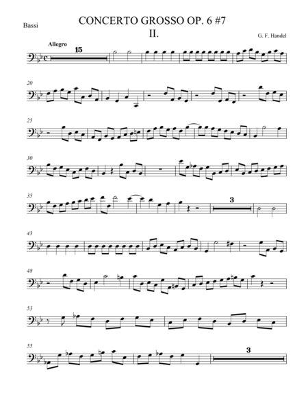 Concerto Grosso Op 6 7 Movement Ii  music sheet