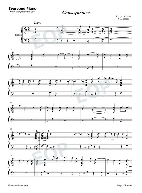 Consequences  music sheet