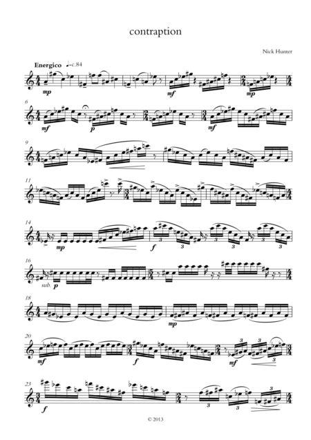 Contraption  music sheet