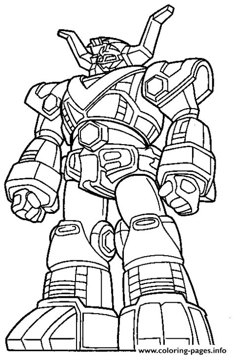 cool power ranger robot s43a4 Coloring pages Printable