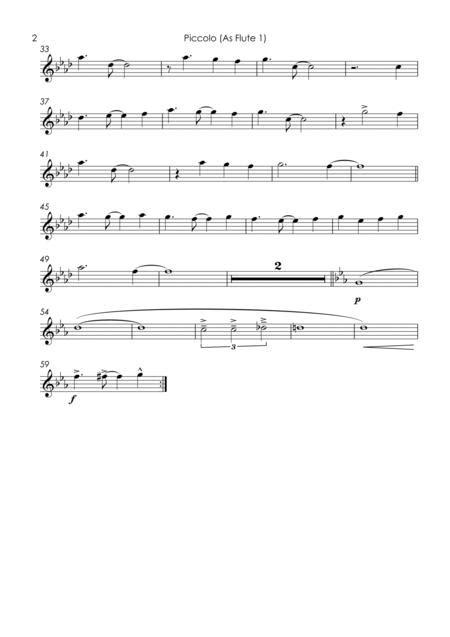 Copacabana At The Copa Flute Quartet music sheet
