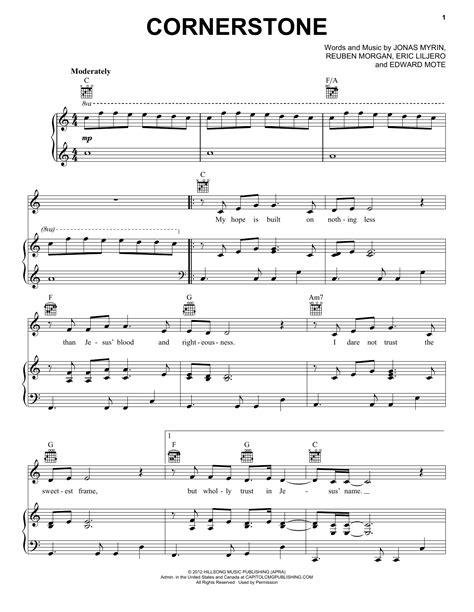 Cornerstone Hillsong Worship Sheet Music Easy  music sheet