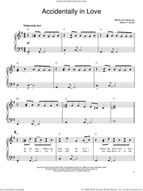 Counting Crows Accidentally In Love For Oboe Piano  music sheet
