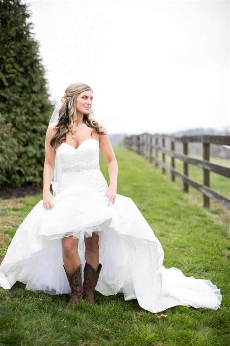 country wedding dresses with cowboy boots bridesmaid