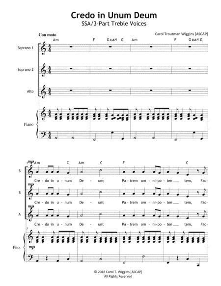 Credo From Reconciliation  music sheet