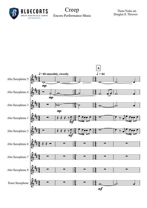 Creep Tenor Sax  music sheet