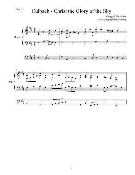 culbach christ the glory of the sky alternate harmonization music sheet