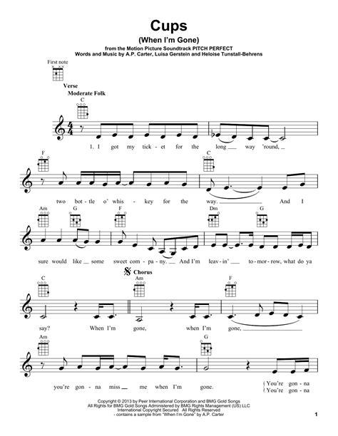 Cups When I M Gone Euphonium  music sheet