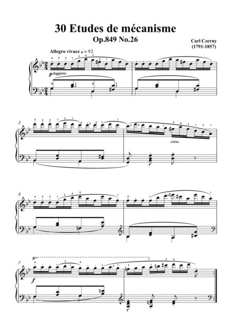 Czerny 30 Etudes De Mcanisme Op 849 No 15 Allegretto Vivace In E Major For Piano  music sheet