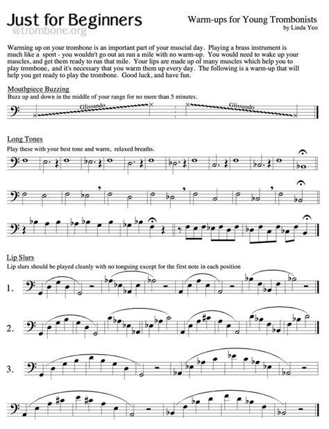daily warm up for trombone by matt smith music sheet