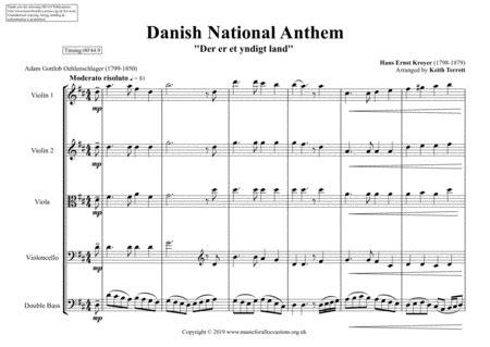 danish national anthem for string orchestra mfao world national anthem series music sheet