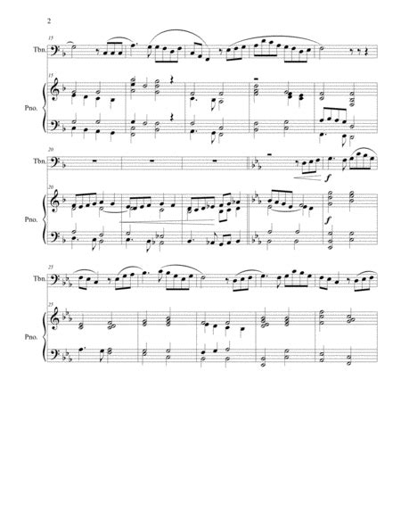 Danny Boy A Londonderry Air Arranged For Trombone And Piano  music sheet