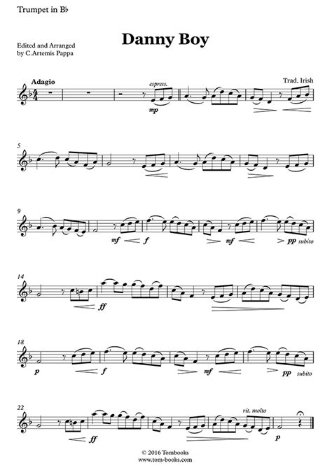 Danny Boy For Solo Bassoon And Piano  music sheet