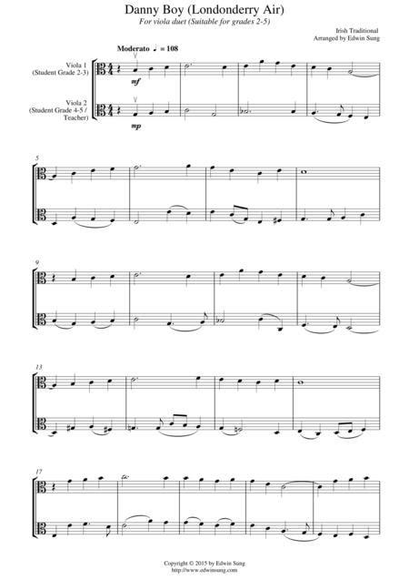 Danny Boy Londonderry Air Viola  music sheet