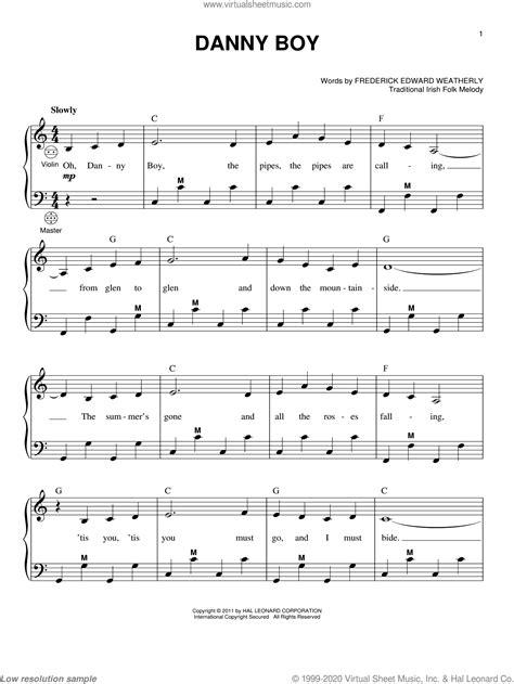 Danny Boy Piano  music sheet