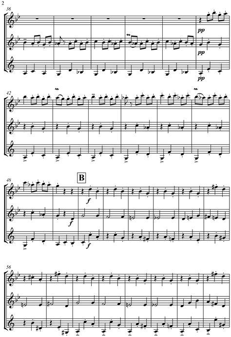 Danse Macabre For Woodwind Trio  music sheet