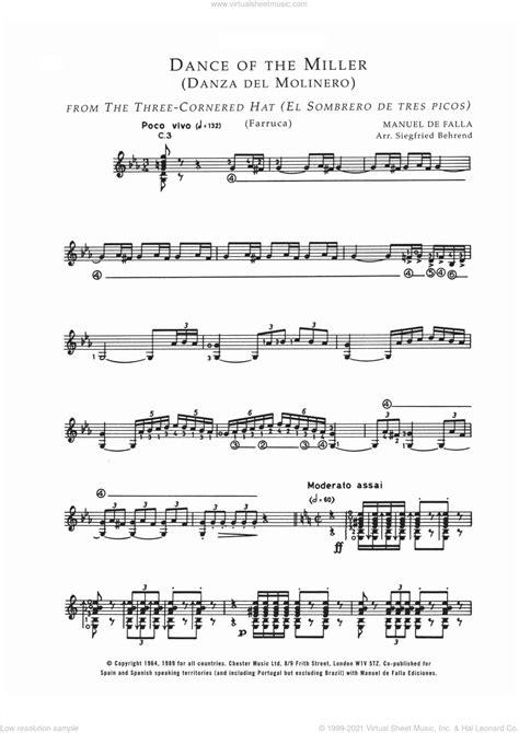 Danza Del Molinero  music sheet