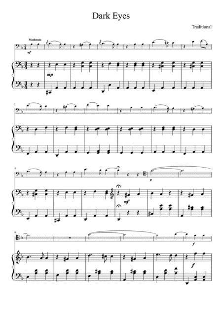 Dark Eyes For Trombone And Piano  music sheet