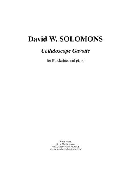 David Warin Solomons Collidoscope Gavotte For Bb Clarinet And Piano  music sheet