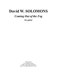 David Warin Solomons Coming Out Of The Fog For Solo Guitar  music sheet