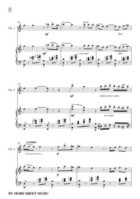 De Curtis Canta Pe Me In E Minor For Violin And Piano music sheet