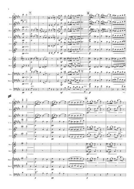 Debussy Sarabande Pour Le Piano For The Piano L 95 Wind Dectet  music sheet