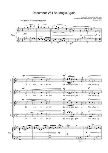December Will Be Magic Again  music sheet