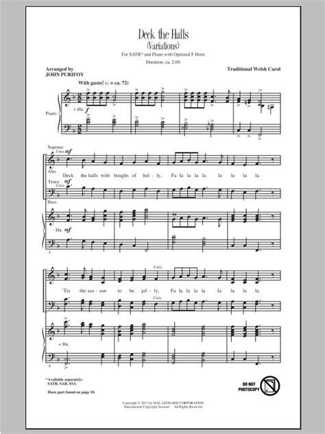 Deck The Hall Satb Madrigal  music sheet