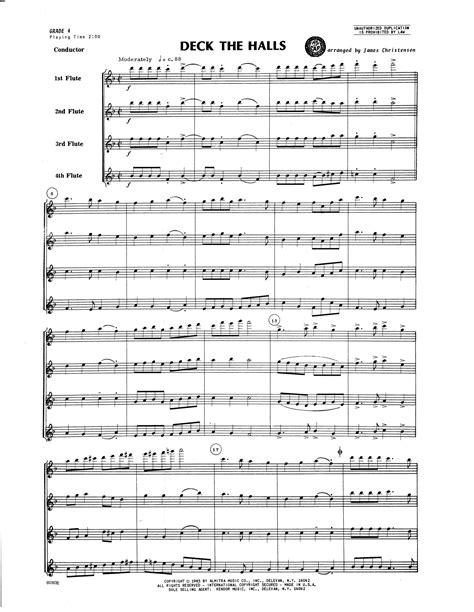 Deck The Halls For Flute Quartet  music sheet