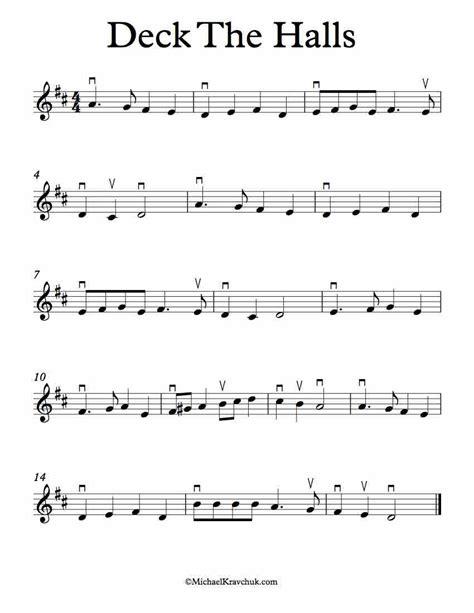 deck the halls for violin music sheet