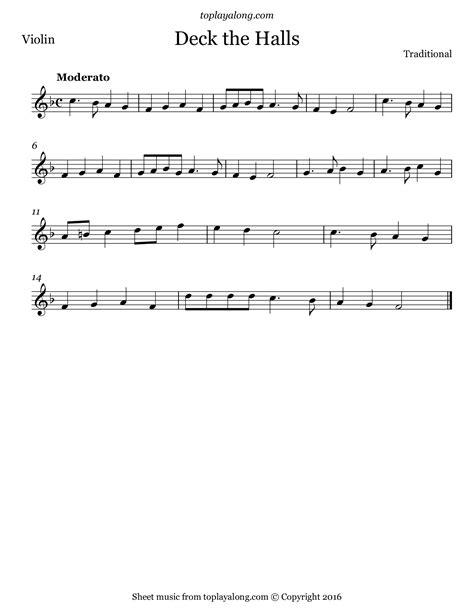 Deck The Halls Solo Violin  music sheet