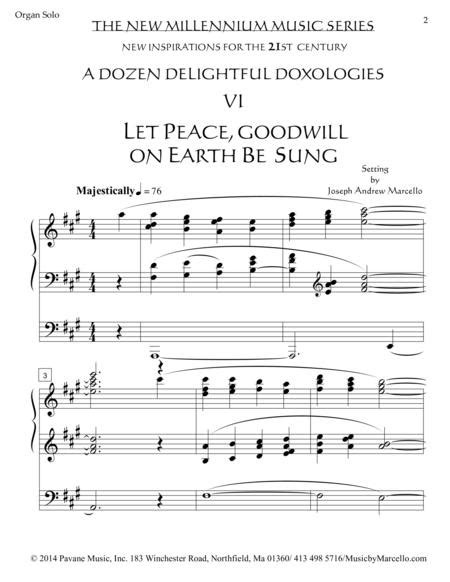 Delightful Doxology Vi Let Peace Goodwill On Earth Be Sung Organ A  music sheet