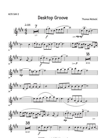 Desktop Grove For Big Band Alto 2  music sheet