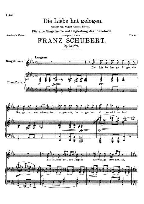 Die Liebe Hat Gelogen D 751 D Minor  music sheet