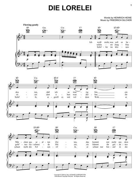 Die Lorelei  music sheet