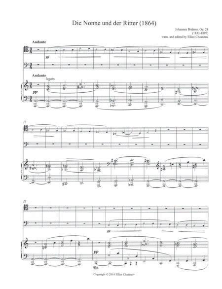 Die Nonne Und Der Ritter Duet For Trombone Tuba And Piano  music sheet