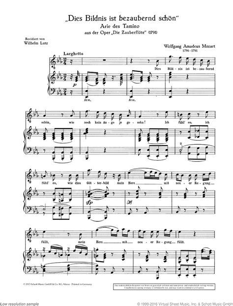 Dies Bildnis Ist Bezaubernd Schon  music sheet