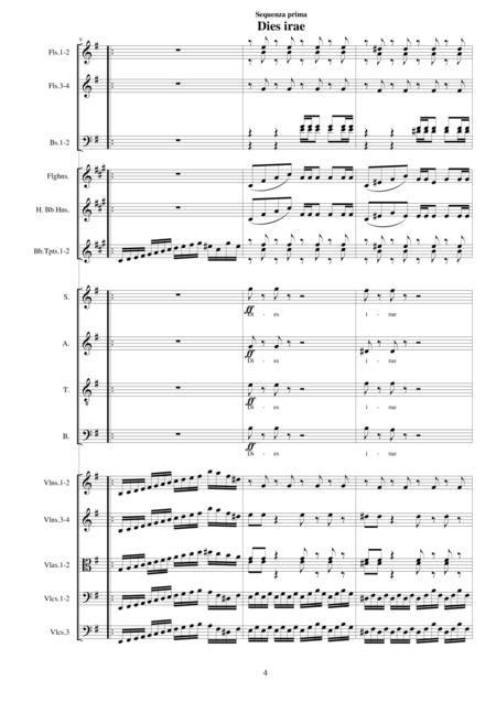 Dies Irae Quantus Tremor Sequences From Missa Requiem Cs044  music sheet