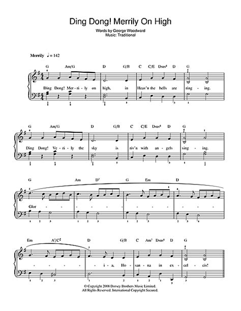 Ding Dong Merrily On High For Piano Flute And Cello  music sheet