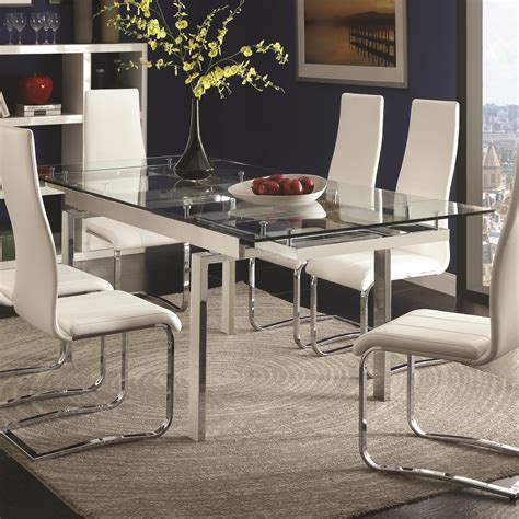 discount modern contemporary formal fine dining table