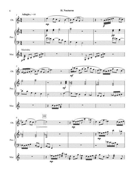 Divertissement For Oboe Piano And Percussion  music sheet