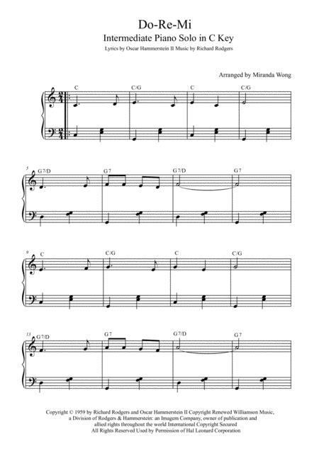 Do Re Mi For Early Intermediate Piano  music sheet