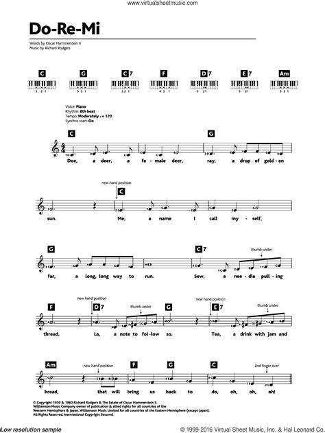 Do Re Mi For Intermediate Piano  music sheet