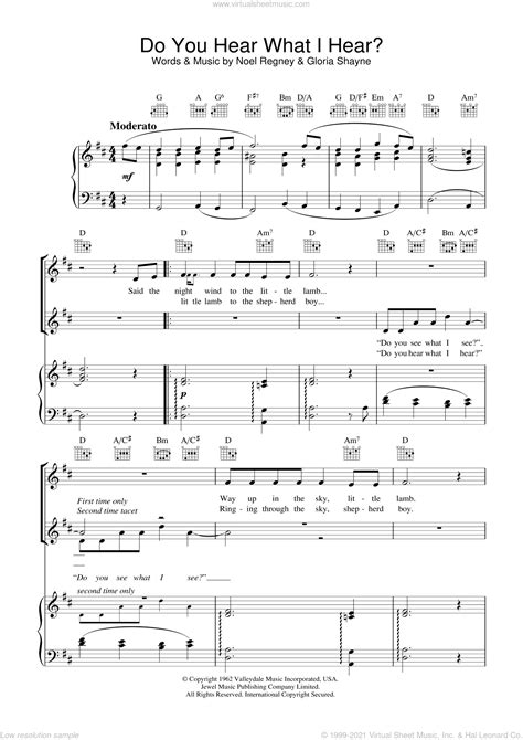 Do You Hear What I Hear For Easy Guitar With Tab  music sheet