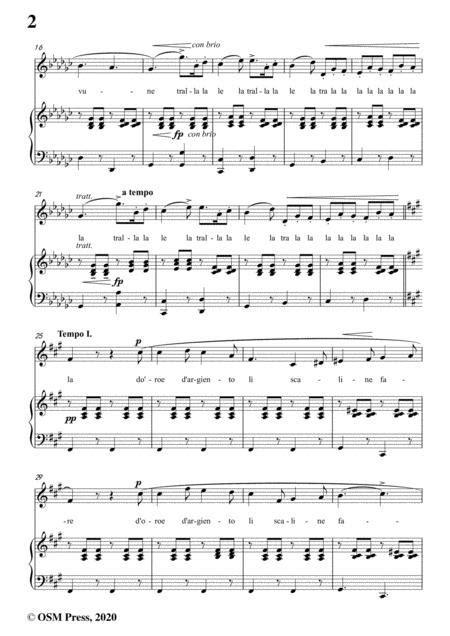 Donizetti Me Voglio Fa Na Casa In E Flat Major For Voice And Piano  music sheet