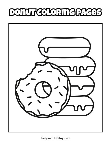 donut coloring pages for kids Breakfast coloring pages
